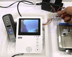 Подключение видеодомофона